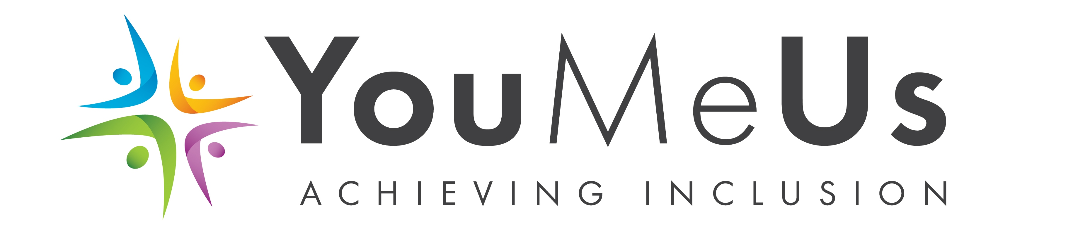 YouMeUs logo with text YouMeUs Achieving Inclusion